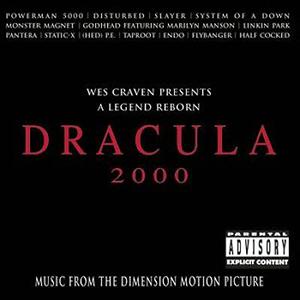Capa da trilha sonora do filme 'Dracula 2000'