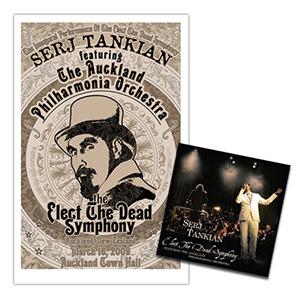 Capa do CD e DVD ao-vivo 'Elect the Dead Symphony' de Serj Tankian