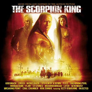 Capa da trilha sonora do filme 'The Scorpion King'