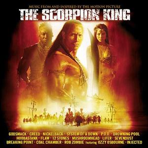 Capa da trilha sonora do filme 'The Scorpion King'