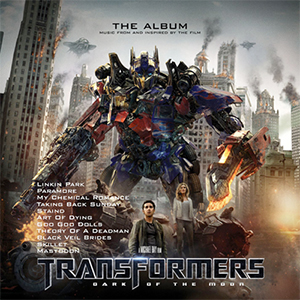 Capa da trilha sonora do filme 'Transformes'