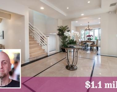 Shavo Odadjian coloca sua mansão à venda por $1.1 milhão